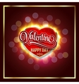 Happy Valentines Day Creative graphic message for vector image