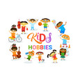 kids hobbies art classes logo workshop creative vector image