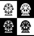 ferris wheel sign  black and white icons vector image