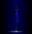 black craft dummy in the dark room vector image