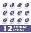 Zodiac icons sticker set vector image