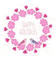 wreath pink vector image vector image