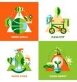 Ecology Design Concept Set vector image vector image