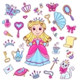 Cute princess set vector image