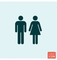 Man woman icon vector image