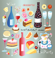 A set of food and drink vector image