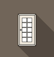 Closed door vector image