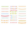 set flat buntings garlands with ornaments vector image