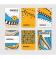 Set of six brochures vector image