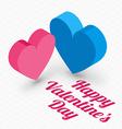 St Valentines Day card design in flat des vector image