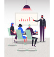stylized characters business vector image