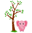 Tree and Elephant vector image