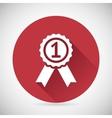 Victory Prize Award Symbol Badge With Ribbons vector image