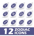 Zodiac icons sticker set vector image