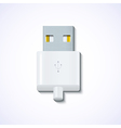 usb on blue background Eps10 vector image