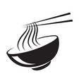 icon black noodle vector image