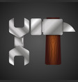 wrench and hammer vector image vector image