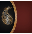 dark background with golden paisley vector image