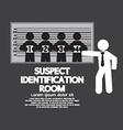 Suspect Identification Room vector image