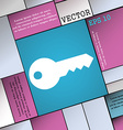 key icon sign Modern flat style for your design vector image