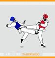 Athlete Taekwondo fighters vector image