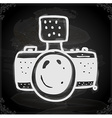Camera Drawing on Chalk Board vector image
