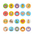 Fitness and Health Colored Icons 2 vector image