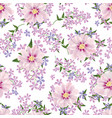 floral seamless background flower spring bouquet vector image