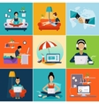 Freelance work from the house Modern concept vector image