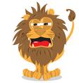 lion roaring vector image