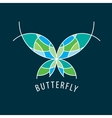logo butterfly vector image