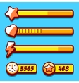 Option menu yellow style game buttons vector image