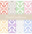 Pastel Seamless Patterns Set vector image