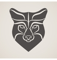 Symbol head of the old fox vector image