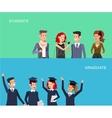 university students graduation vector image