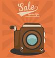 vintage video camera sale special offer technology vector image