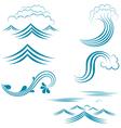 Water Wave Set vector image
