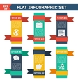 Modern flat infographic background vector image vector image