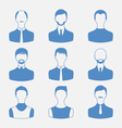 avatars set front portrait of males isolated on vector image vector image