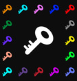Key icon sign Lots of colorful symbols for your vector image
