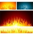 fire flames symbol vector image