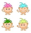 smilies girls set vector image