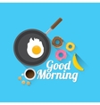 good morning concept food background vector image