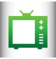 TV sign Green gradient icon vector image