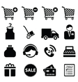 buy and sell icons vector image