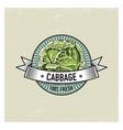 cabbage vintage set of labels emblems or logo for vector image