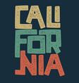 california t-shirt graphic design vector image