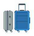 classic suitcase on wheels vector image