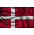 crumpled flag of Denmark on a light background vector image