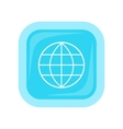 Earth Globe Emblem Logo Template Icon vector image